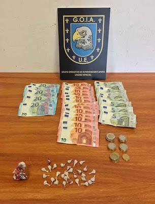 Dos detenidos barrio San Juan portando heroína