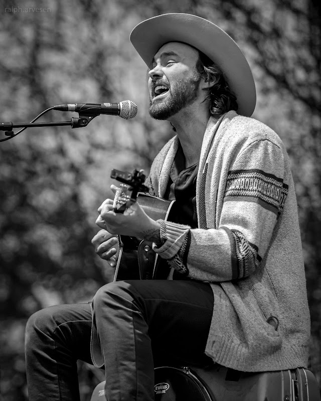 Shakey Graves performing at the Nutty Brown Amphitheatre in Austin, Texas