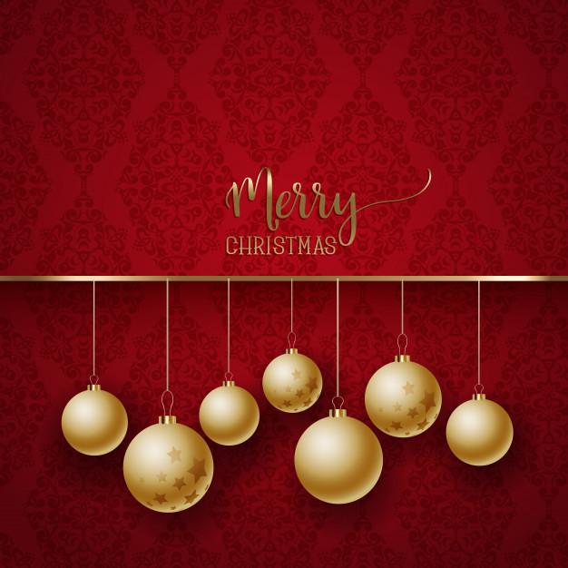 Elegant Christmas background Free Vector
