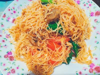 Cara Masak Resepi Mee Hoon Goreng Dengan Bebola Daging