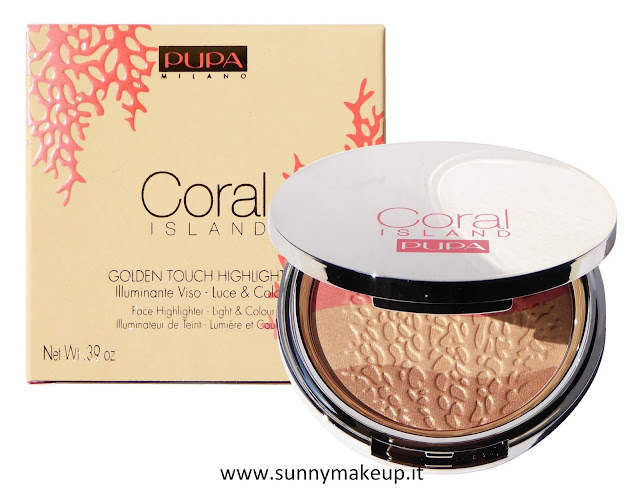 Pupa - Coral Island. Golden Touch Highligter. Illuminante viso.