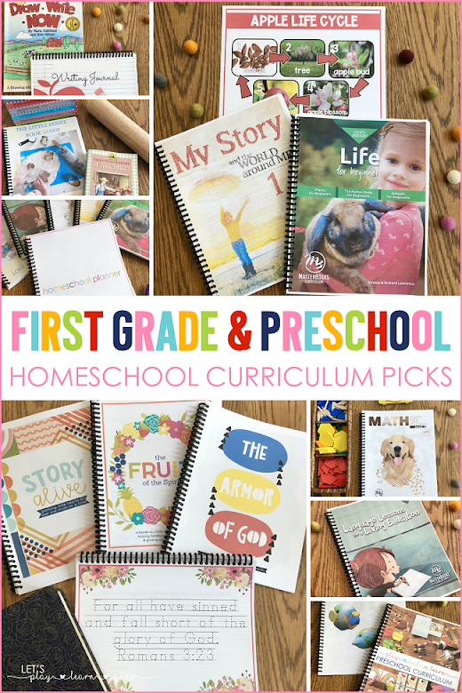 Check out all our first grade and preschool homeschool curriclum choices for the 2020-2021 school year.