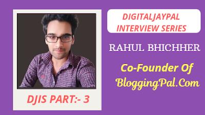 BloggingPal.com cofounder interview