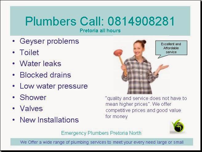 Emergency plumbers, Plumbing repairs,Best Plumbers in Pretoria NORTH