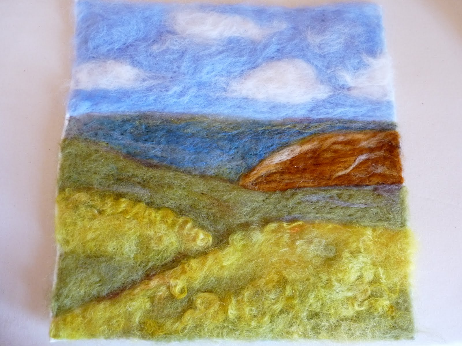 Wool landscape art