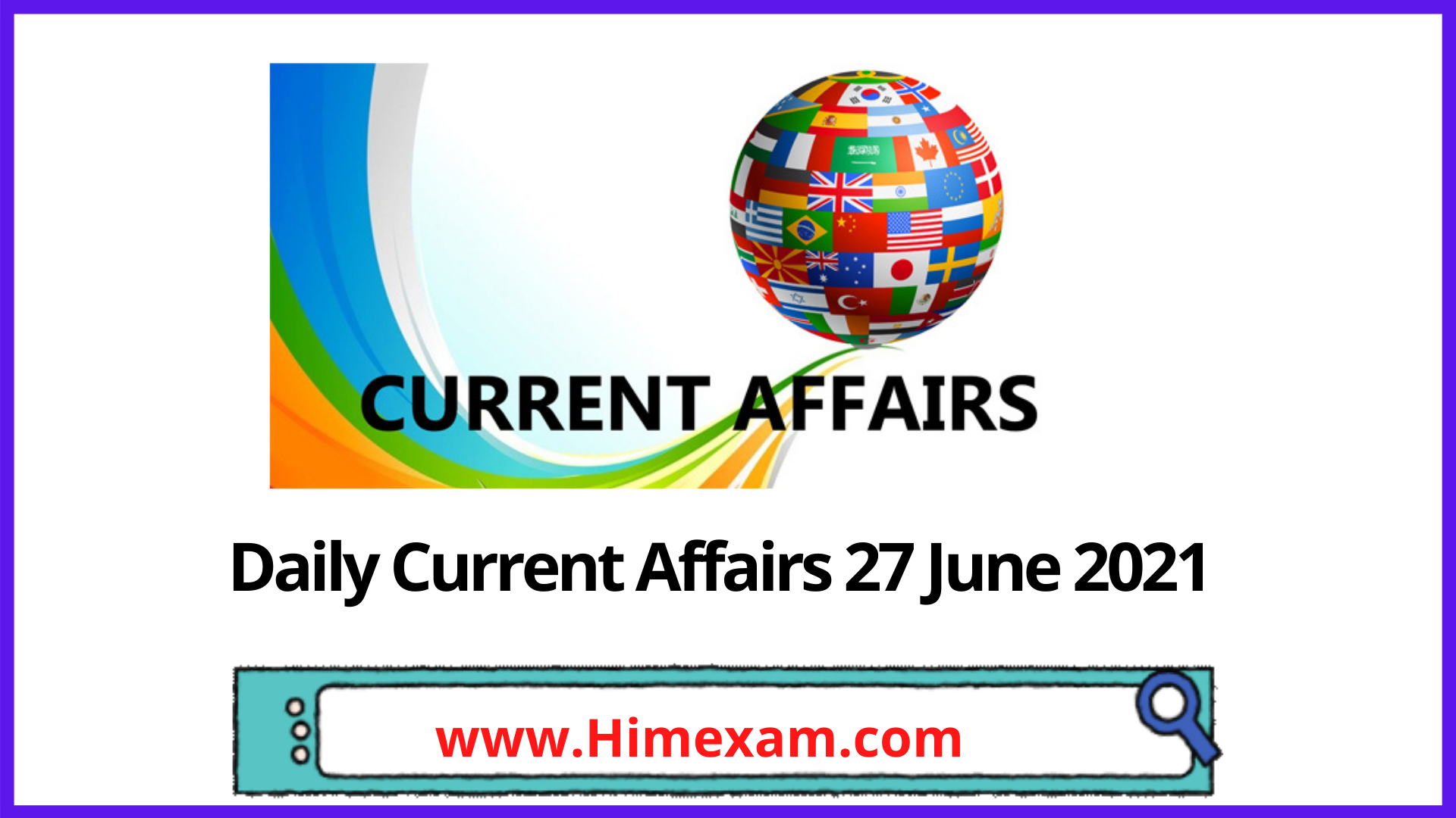 Daily Current Affairs 27 June 2021 In Hindi