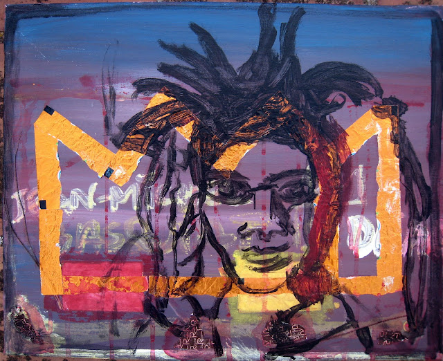 Some Jean-Michel Basquiat is dead painting by EmeBeZeta made by collage and acrylic paintings in November 2011
