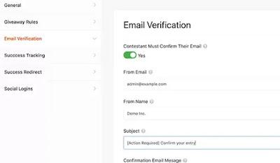 activer la vérification par e-mail