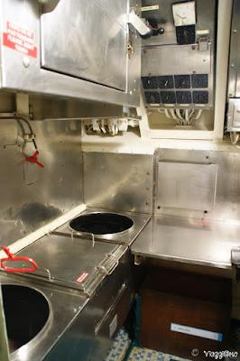Cucina del sottomarino Flora di Lorient