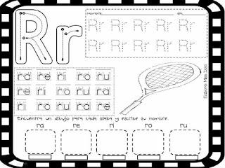 trazos de las silabas ra re ri ro ru