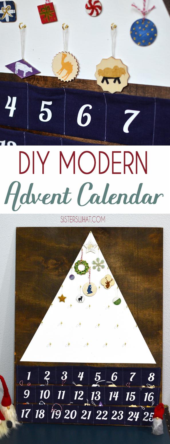 DIY modern minimalist Christmas Advent Calendar Scandinavian style