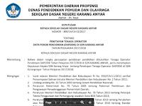 Contoh SK Pengangkatan Guru Honorer dan Operator Sekolah 2017/2018