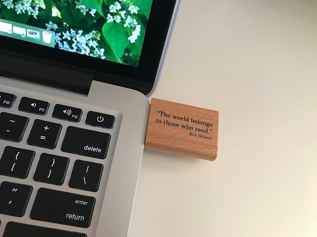 custom bookish flash drive