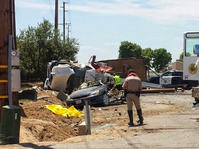 kern county delano pond road semi truck honda car fatality emmanuel alfaro veronica fernando felix