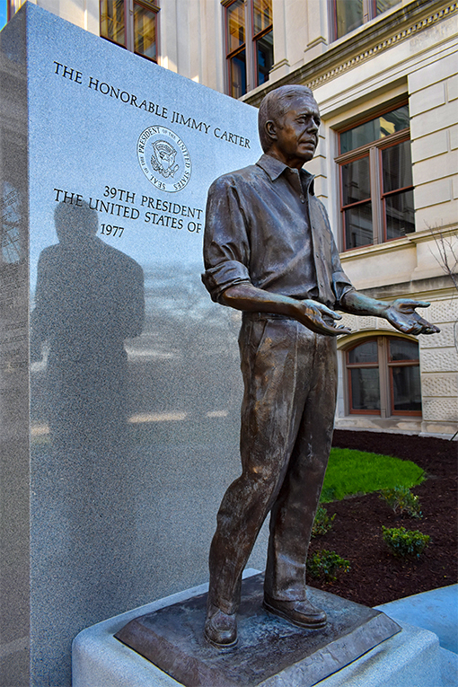 Jimmy Carter Statue at Georgia Capitol Building | Photo by Travis Swann Taylor