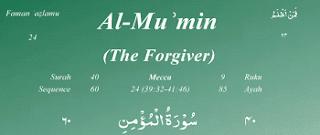 Surat ini diturunkan sesudah Surah Az Zumar dan dinamai dengan  Surat | Surah Al Mu`min Arab, Latin dan Terjemahannya
