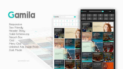 Gamila Responsive Blogger Template