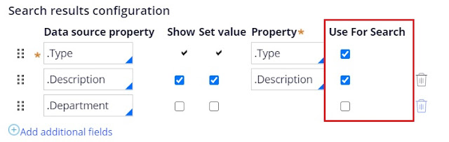 use for search in multi select list control