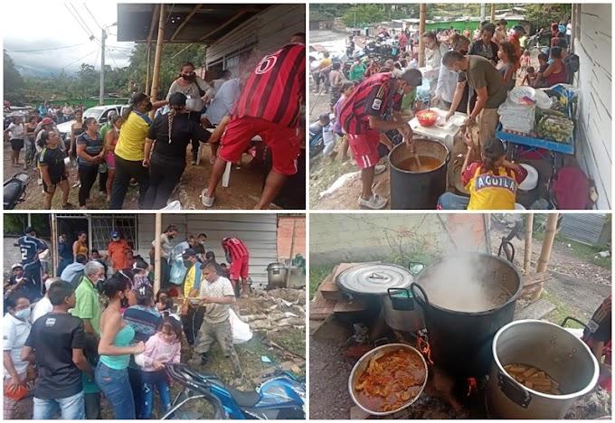 Una mano amiga: Hinchas del DEPORTES TOLIMA ayudaron a las familias afectadas por desbordamiento del río Combeima