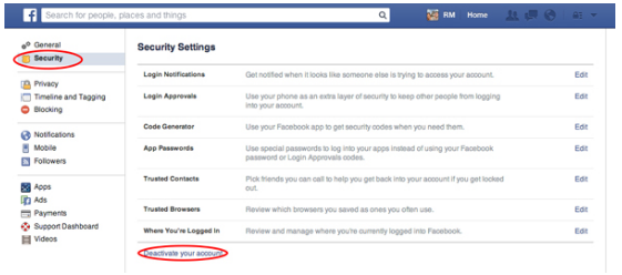 How to delete a facebook account ccuart Image collections