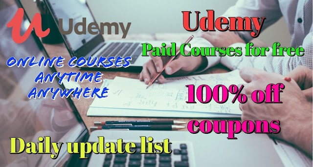 Udemy 100% Off coupons on premium courses | Daily Update List 14th August 2020 | For Limited Time only Enroll Now