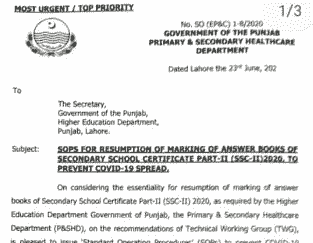 10th class paper marking today latest news 23 june 2020