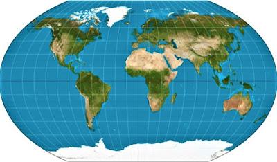 Garis Lintang dan Bujur Peta Dunia