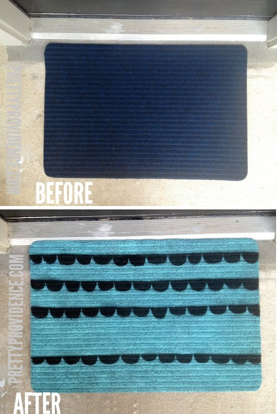 Diy Paint A Cheap Doormat To Make It Cuter Pretty