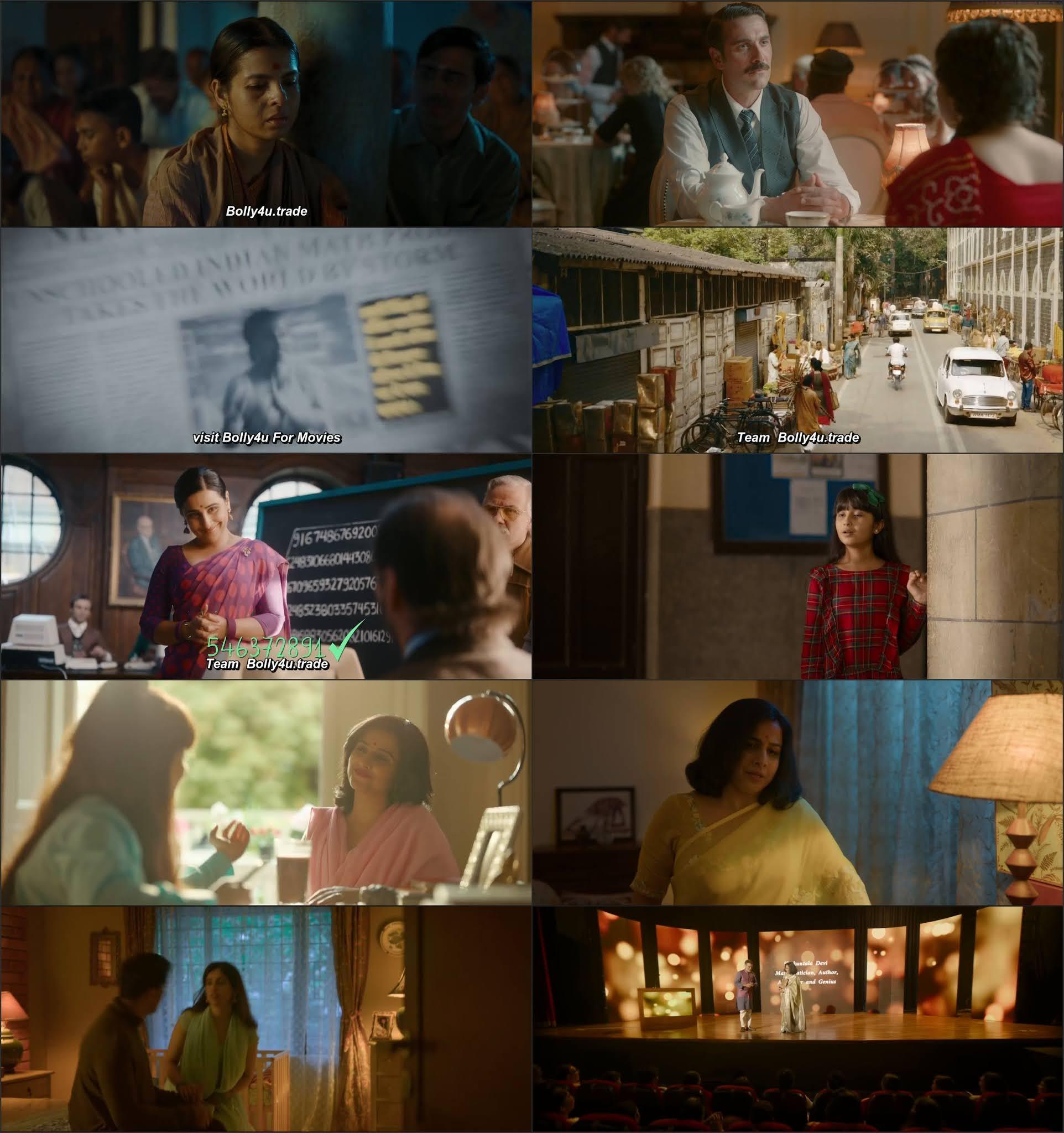 Shakuntala Devi 2020 WEB-DL 900Mb Hindi 720p Movie Download