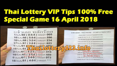Thai Lottery VIP Tips 100% Free