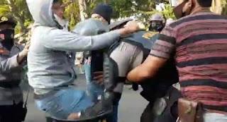 Polisi Bantah Video Viral 'Perwira Nyamar Jadi Mahasiswa'