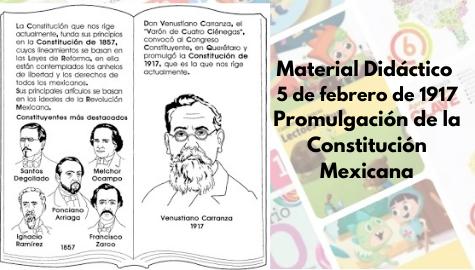 Material didáctico para 5 de febrero promulgación de la Constitución de 1917