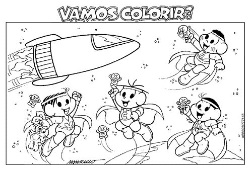 Mundo Infantil: 100 Desenhos Turma Da Mônica Para Imprimir