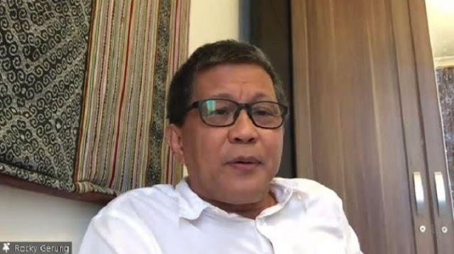 Penyidik KPK Jadi Tersangka Suap, Rocky Gerung Sindir Jokowi Lagi