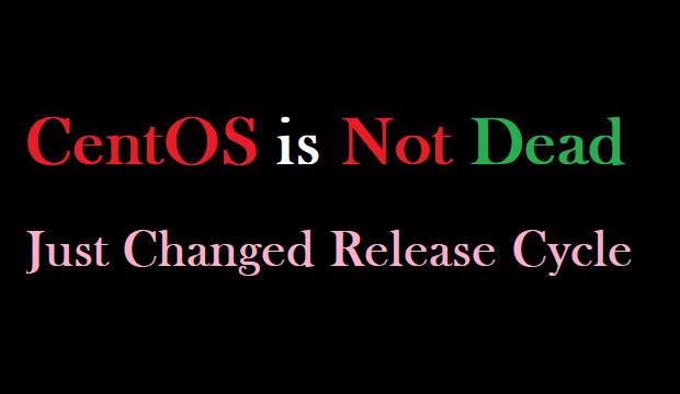 CentOs is Dead