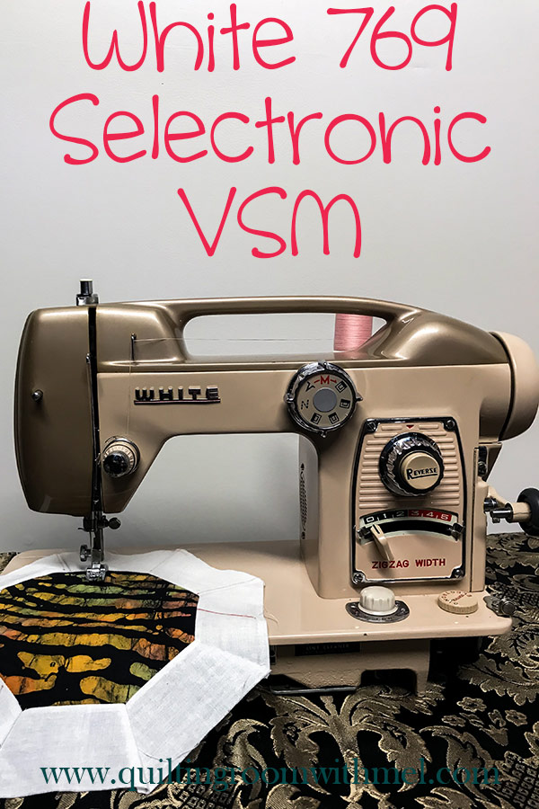 A review of the vintage sewing machine, White 769 Selectronic, link for the official manual is also included.