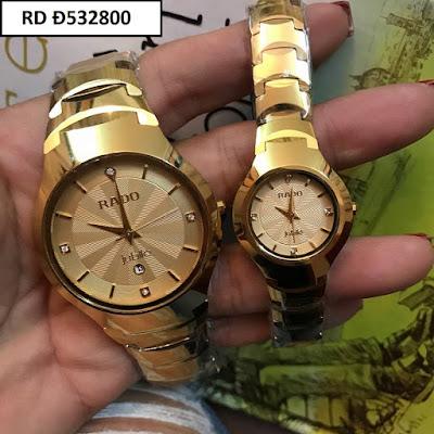 Đồng hồ cặp đôi Rado mặt vuông RD Đ532800