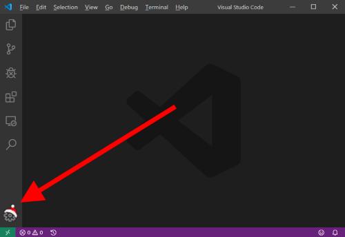 Gorro de Santa Claus en Visual Studio Code para Insiders