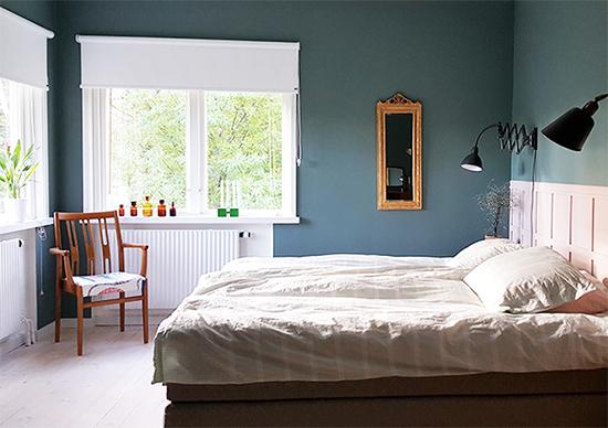 quarto de casal, parede cinza, parede escura, decoração, decor, master bedroom