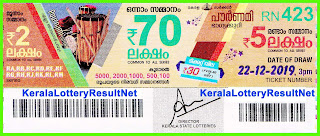 Kerala Lottery Result 22-12-2019 Pournami RN-423
