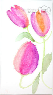 Watercolor Card Tutorial by Tonya Gibbs for Yvonne Blair Designs