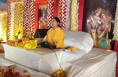 कथा व्यास पूज्या शशी प्रभा जी  : दृढ़ निश्चय के बल पर ही भक्त को भगवान की प्राप्ति होती है