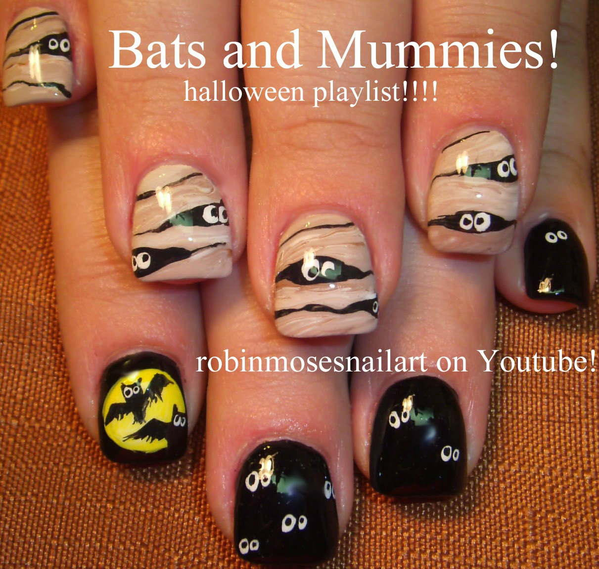 Nail Art By Robin Moses Halloween Nails Witch Nails Ghost