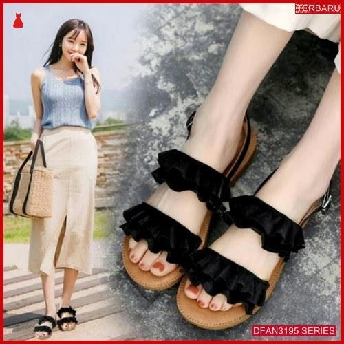 DFAN3195S51 Sepatu Hk26 Sandal Kerut Wanita Flip Flop BMGShop