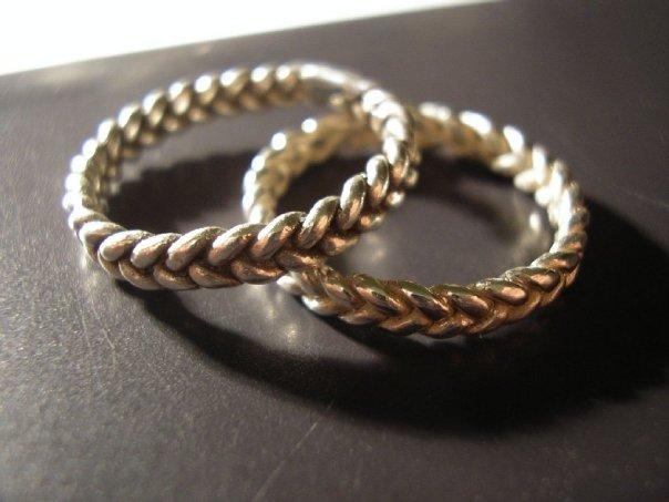 5070139f49 Minicsiga Ékszerei: Öntött fonott gyűrű