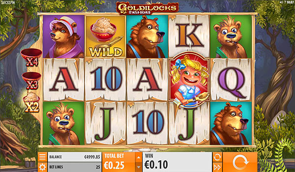 Main Slot Gratis Indonesia - Goldilocks and the Wild Bears (Quickspin)