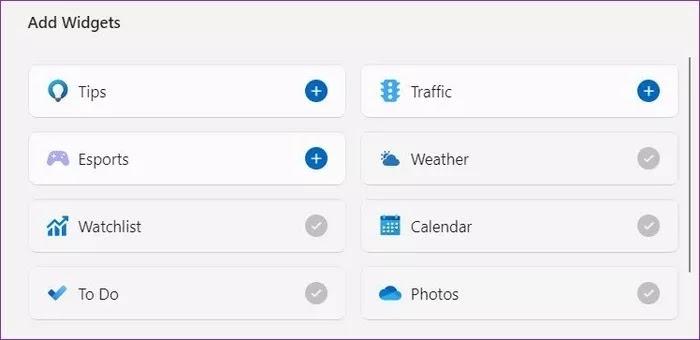 Widget Mana yang Tersedia di Windows 11