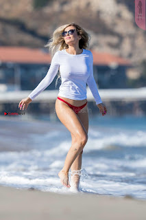 Ana Braga Nipples in See Through Top at a beach ~ SexyCelebs.in Exclusive 017.jpg