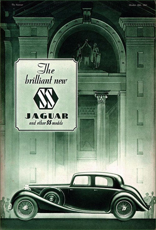 S.S. Jaguar 2.5 litre Saloon, advertisement 1935