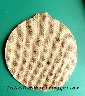 Eclectic Red Barn: Cut a piece of burlap for bunny tail